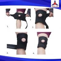 Neoprene Brace Knee Support Pad Guard Protector Sleeve Sports Work Cap Black