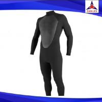 Black color neoprene wetsuit for man with long sleeve