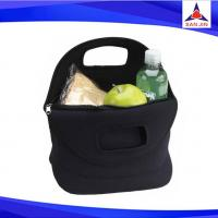 black neoprene lunch cooler bag for office