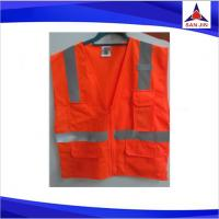 3M Reflective Safety Vest Orange Zippers safety vest with pockets