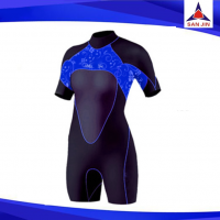 Women Suit surfing short sleeves wetsuit waterproof suit