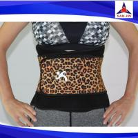 Double compression slimming shaper leopard printing waist trimmer